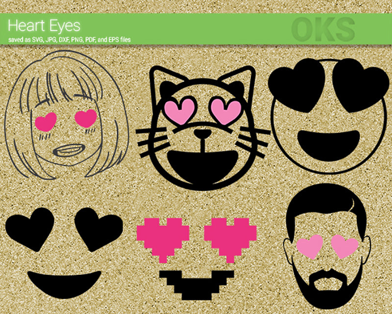 heart, eyes, love, Crafteroks, svg, free, free svg file, eps, dxf, vector, logo, silhouette, icon, instant download, digital download, cutting file, svg clipart, cricut, svg vector, svg download, svg digital, clipart svg, vector svg, https://crafteroks.com/