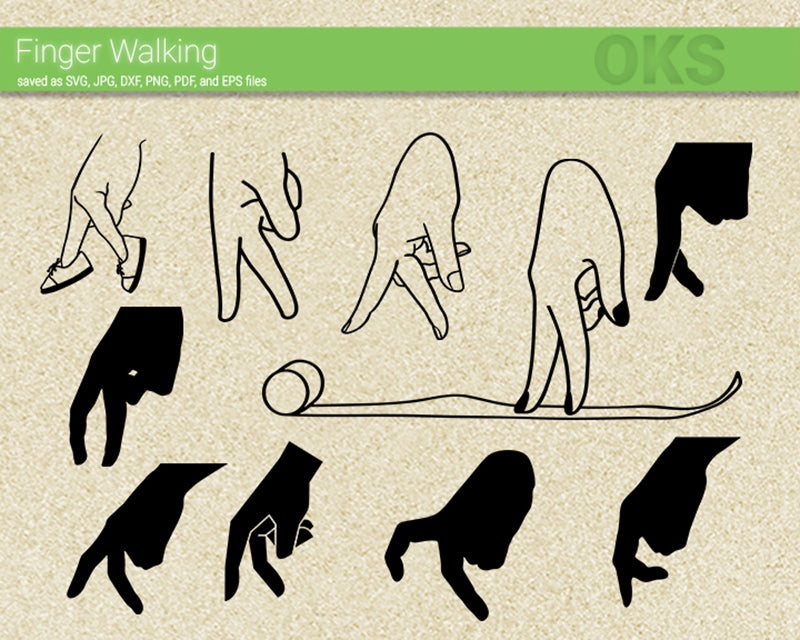finger, walk, walking, Crafteroks, svg, free, free svg file, eps, dxf, vector, logo, silhouette, icon, instant download, digital download, cutting file, svg clipart, cricut, svg vector, svg download, svg digital, clipart svg, vector svg, https://crafteroks.com/