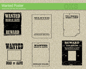 wanted, poster, reward, dead, alive, cowboy, west, wild, Crafteroks, svg, free, free svg file, eps, dxf, vector, logo, silhouette, icon, instant download, digital download, cutting file, svg clipart, cricut, svg vector, svg download, svg digital, clipart svg, vector svg, https://crafteroks.com/