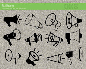 bullhorn, bull, horn, megaphone, Crafteroks, svg, free, free svg file, eps, dxf, vector, logo, silhouette, icon, instant download, digital download, cutting file, svg clipart, cricut, svg vector, svg download, svg digital, clipart svg, vector svg, https://crafteroks.com/