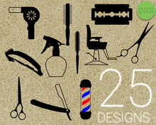 Load image into Gallery viewer, hair, dresser, hairdresser, salon, barber, scissors, razor, blower, comb, spray, Crafteroks, svg, free, free svg file, eps, dxf, vector, logo, silhouette, icon, instant download, digital download, cutting file, svg clipart, cricut, svg vector, svg download, svg digital, clipart svg, vector svg, https://crafteroks.com/