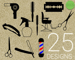 hair, dresser, hairdresser, salon, barber, scissors, razor, blower, comb, spray, Crafteroks, svg, free, free svg file, eps, dxf, vector, logo, silhouette, icon, instant download, digital download, cutting file, svg clipart, cricut, svg vector, svg download, svg digital, clipart svg, vector svg, https://crafteroks.com/