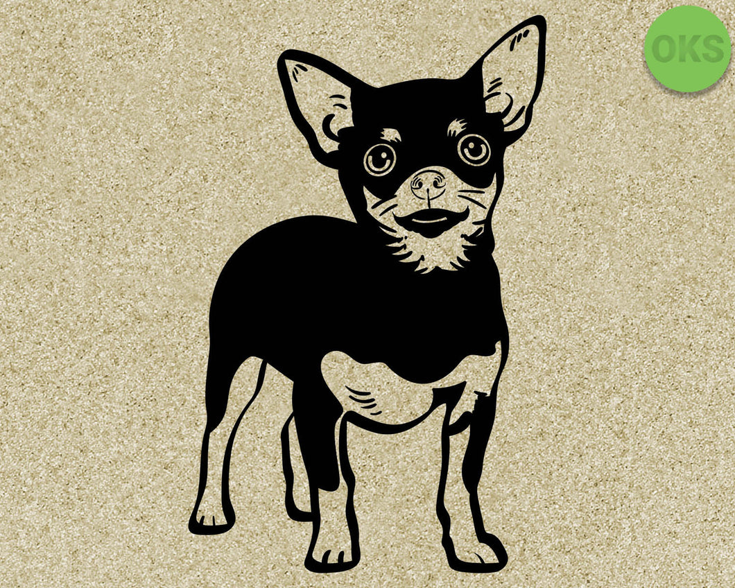 chihuahua, dog, breed, Crafteroks, svg, free, free svg file, eps, dxf, vector, logo, silhouette, icon, instant download, digital download, cutting file, svg clipart, cricut, svg vector, svg download, svg digital, clipart svg, vector svg, https://crafteroks.com/