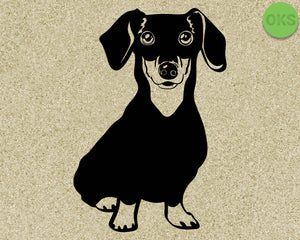 dachshund; dog; breed; Crafteroks; svg; free; free svg file; eps; dxf; vector; logo; silhouette; icon; instant download; digital download; cutting file; svg clipart; cricut; svg vector; svg download; svg digital; clipart svg; vector svg; https://crafteroks.com/