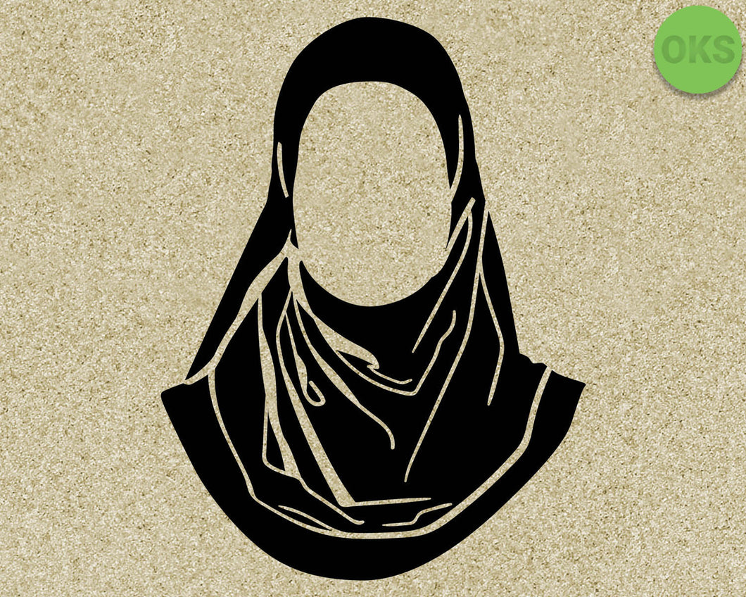 hijab, Crafteroks, svg, free, free svg file, eps, dxf, vector, logo, silhouette, icon, instant download, digital download, cutting file, svg clipart, cricut, svg vector, svg download, svg digital, clipart svg, vector svg, https://crafteroks.com/