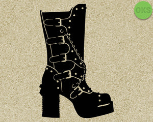 goth, platform, boots, motor, head, Crafteroks, svg, free, free svg file, eps, dxf, vector, logo, silhouette, icon, instant download, digital download, cutting file, svg clipart, cricut, svg vector, svg download, svg digital, clipart svg, vector svg, https://crafteroks.com/