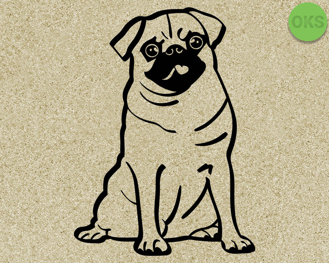 pug, dog, dogs, Crafteroks, svg, free, free svg file, eps, dxf, vector, logo, silhouette, icon, instant download, digital download, cutting file, svg clipart, cricut, svg vector, svg download, svg digital, clipart svg, vector svg, https://crafteroks.com/