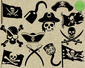 pirate, pirates, flag, skull, sword, hat, hook, Crafteroks, svg, free, free svg file, eps, dxf, vector, logo, silhouette, icon, instant download, digital download, cutting file, svg clipart, cricut, svg vector, svg download, svg digital, clipart svg, vector svg, https://crafteroks.com/