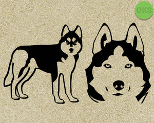 husky, dog, Crafteroks, svg, free, free svg file, eps, dxf, vector, logo, silhouette, icon, instant download, digital download, cutting file, svg clipart, cricut, svg vector, svg download, svg digital, clipart svg, vector svg, https://crafteroks.com/