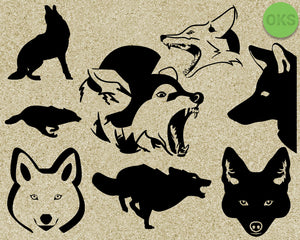 coyote, Crafteroks, svg, free, free svg file, eps, dxf, vector, logo, silhouette, icon, instant download, digital download, cutting file, svg clipart, cricut, svg vector, svg download, svg digital, clipart svg, vector svg, https://crafteroks.com/