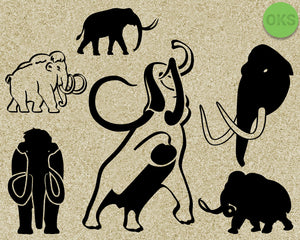 mammoth, elephant, tusk, Crafteroks, svg, free, free svg file, eps, dxf, vector, logo, silhouette, icon, instant download, digital download, cutting file, svg clipart, cricut, svg vector, svg download, svg digital, clipart svg, vector svg, https://crafteroks.com/