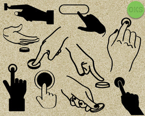 finger, push, pushing, button, hand, gesture, Crafteroks, svg, free, free svg file, eps, dxf, vector, instant download, digital download, cutting file, svg clipart, cricut, svg vector, svg download, svg digital, clipart svg, vector svg, https://crafteroks.com/