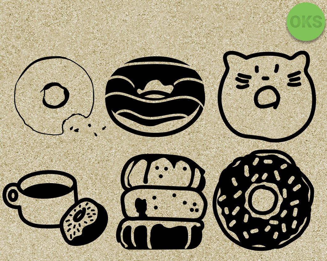 donuts, donut, coffee, Crafteroks, free svg file, eps, dxf, vector, instant download, digital download, cutting file, svg clipart, cricut, svg vector, svg download, svg digital, clipart svg, vector svg, https://crafteroks.com/