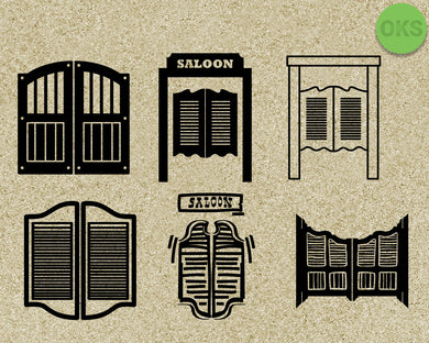 saloon, door, west, cowboys, Crafteroks, svg, free, free svg file, eps, dxf, vector, instant download, digital download, cutting file, svg clipart, cricut, svg vector, svg download, svg digital, clipart svg, vector svg, https://crafteroks.com/