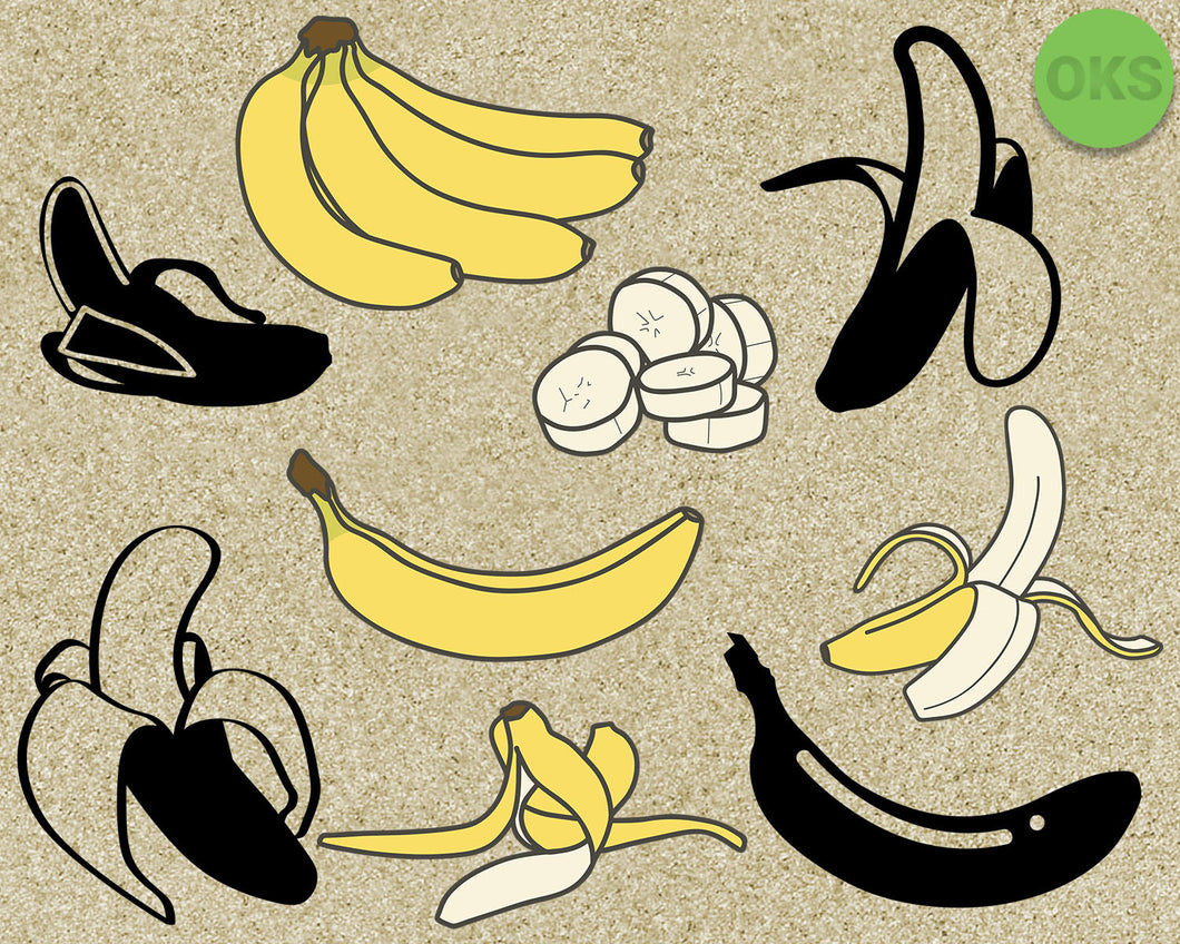 banana, fruit, Crafteroks, free svg file, eps, dxf, vector, instant download, digital download, cutting file, svg clipart, cricut, svg vector, svg download, svg digital, clipart svg, vector svg, https://crafteroks.com/