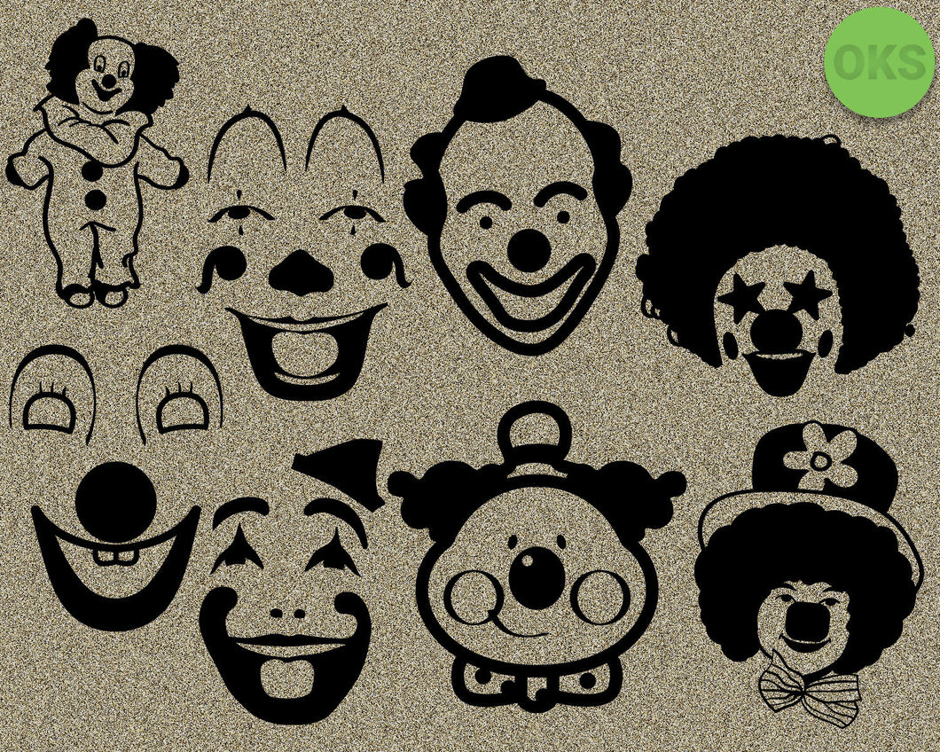 clown, face, Crafteroks, free svg file, eps, dxf, vector, instant download, digital download, cutting file, svg clipart, cricut, svg vector, svg download, svg digital, clipart svg, vector svg, https://crafteroks.com/