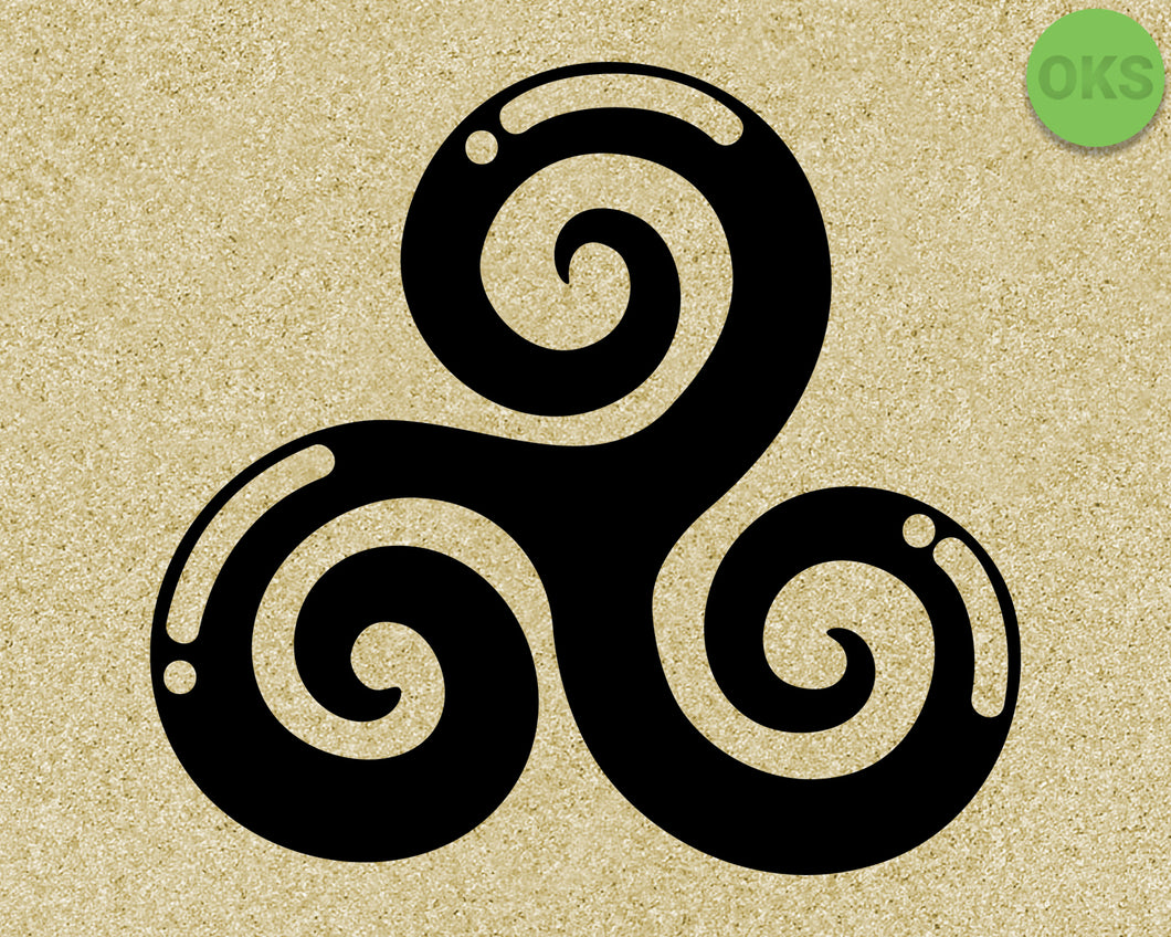 Celtic Triskele, Triple Spiral svg, dxf, vector, eps, clipart, cricut, download