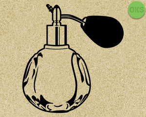 FREE perfume bottle svg, dxf, vector, eps, clipart, cricut, download