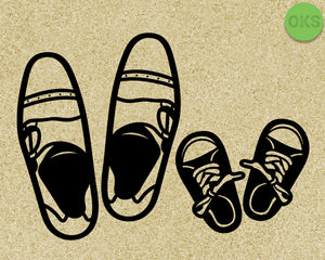 father and son shoes svg, dxf, vector, eps, clipart, cricut, download
