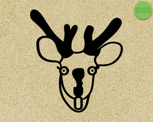 FREE deer caught in the headlights svg, dxf, vector, eps, clipart, cricut, download