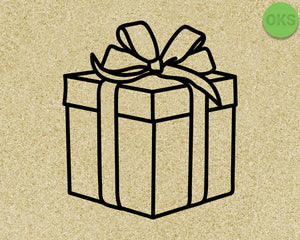 gift box svg, dxf, vector, eps, clipart, cricut, download