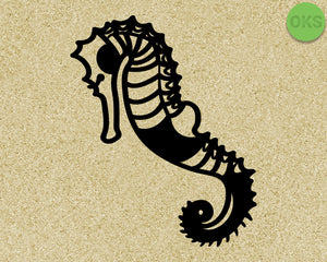 seahorse SVG cut files, DXF, vector EPS cutting file instant download for cricut and other uses