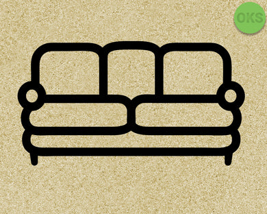 sofa, couch SVG cut files, DXF, vector EPS cutting file instant download for cricut and other uses