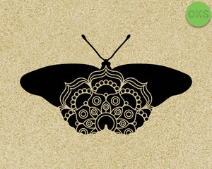 butterfly mandala SVG cut files, DXF, vector EPS cutting file instant download for cricut and other uses