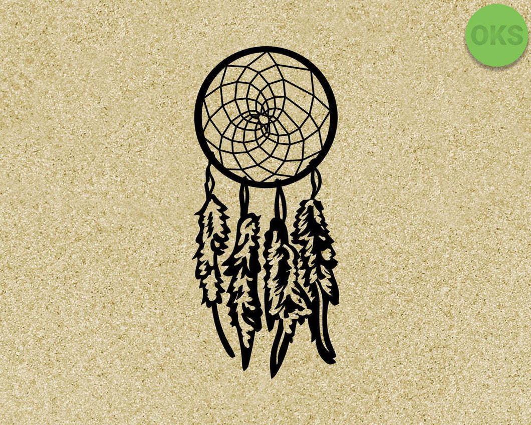 dreamcatcher SVG cut files, DXF, vector EPS cutting file instant download for cricut and other uses