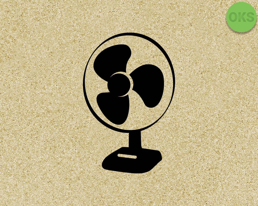 electric fan SVG cut files, DXF, vector EPS cutting file instant download for cricut and other uses