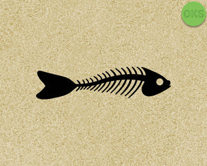 fish bone SVG cut files, DXF, vector EPS cutting file instant download for cricut and other uses