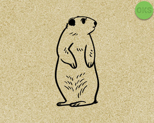 groundhog SVG cut files, DXF, vector EPS cutting file instant download for cricut and other uses