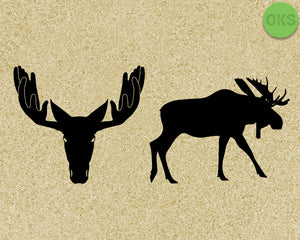 moose SVG cut files, DXF, vector EPS cutting file instant download for cricut and other uses