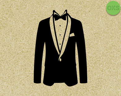tuxedo SVG cut files, DXF, vector EPS cutting file instant download for cricut and other uses