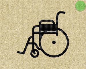 wheelchair SVG cut files, DXF, vector EPS cutting file instant download for cricut and other uses