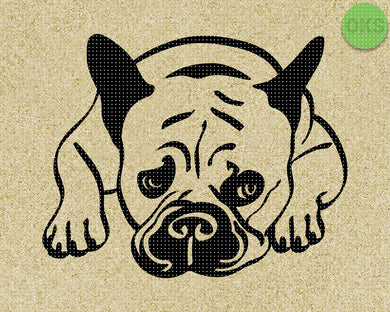 cute french bulldog SVG cut files, DXF, vector EPS cutting file instant download for cricut and other uses