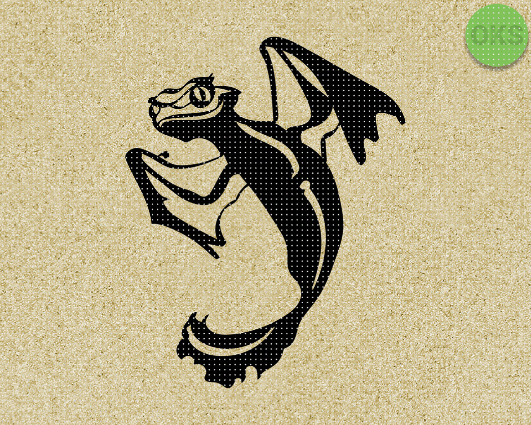 baby dragon SVG cut files, DXF, vector EPS cutting file instant download for cricut and other uses