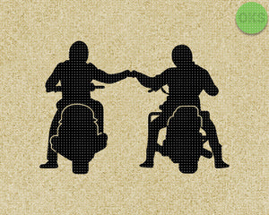 FREE motorcycle bro fist bump SVG cut files, DXF, vector EPS cutting file instant download for cricut and other uses