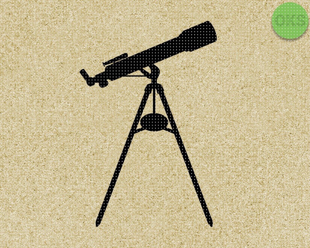 telescope SVG cut files, DXF, vector EPS cutting file instant download for cricut and other uses