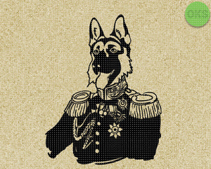 german shepherd royalty, royal guard dog SVG cut files, DXF, vector EPS cutting file instant download for cricut and other uses
