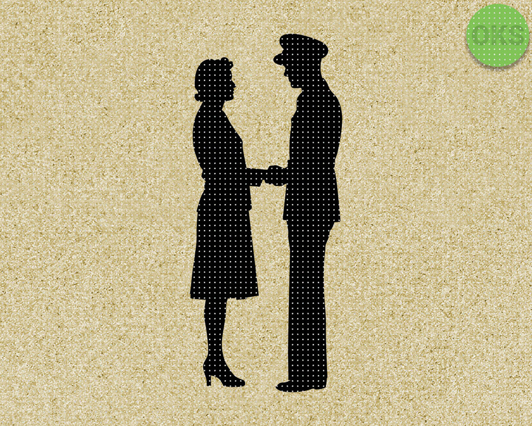 military couple, army husband and wife SVG cut files, DXF, vector EPS cutting file instant download for cricut and other uses