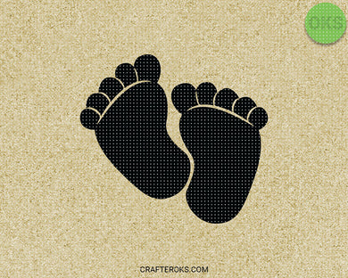 baby footprint SVG file, DXF, free SVG cut file instant download for cricut and other uses
