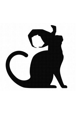 FREE Black Cat wearing a Witch Hat SVG file for Personal Use