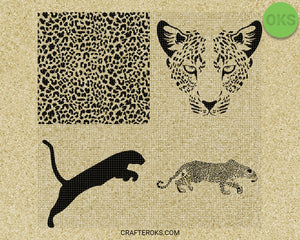 leopard print SVG file, cheetah pattern DXF, free SVG cut file instant download for cricut and other uses