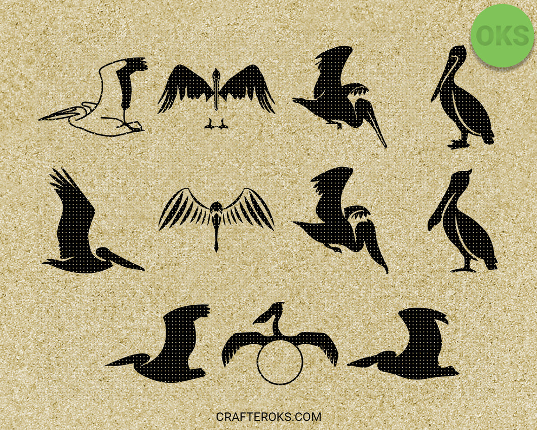 Pelican SVG cut files, DXF, vector EPS cutting file instant download for cricut and other uses