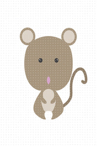 FREE cute brown mouse, rat PNG clipart instant download for Personal Use