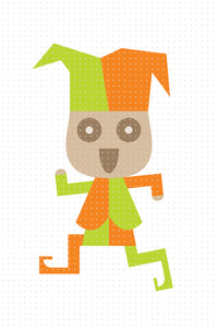 FREE cute clown, jester PNG clipart instant download for Personal Use