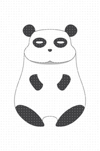 FREE cute panda PNG clipart instant download for Personal Use