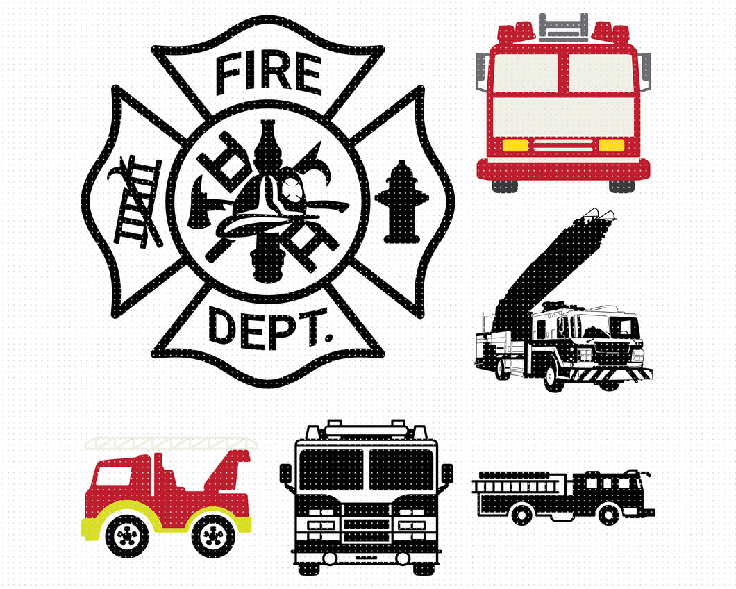 Firetruck svg, dxf, vector, eps, clipart, cricut, download for personal use