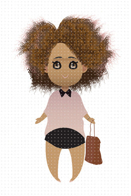 FREE African American woman slice of life PNG clipart instant download for Personal Use